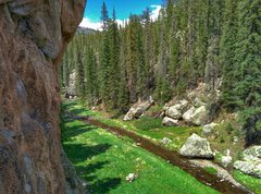 Rock Climbing Photo: View from Just below the top of Forest as While i ...