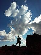 Rock Climbing Photo: Astro Elephant Aerili on the Summit