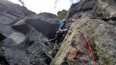 Rock Climbing Photo: Yellow wall variation