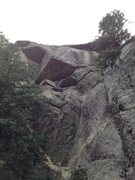 Rock Climbing Photo: Red Limit climbs the easy corner to the seam and u...