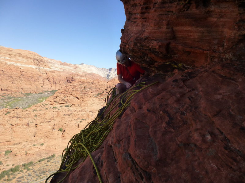 Rock Climbing Photo: Changing out tat anchor for new webbing