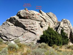 Rock Climbing Photo: The routes.