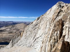 Rock Climbing Photo: The steep SW Face and mellow West Ridge of Mt Conn...