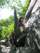 Rock Climbing Photo: Recollections is the finger crack just above the r...