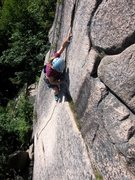 Rock Climbing Photo: The last of the fun on Wafer Step