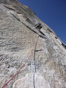 Rock Climbing Photo: First Lead. Got have sticky fingers.
