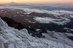 Rock Climbing Photo: Late-season (September 1st) ascent of the Kautz, t...