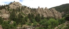 Rock Climbing Photo: The Dome and Elephant Buttresses from Rock Island ...
