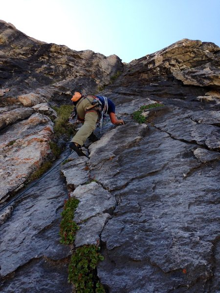 Rock Climbing Photo: excellent rock on pitch 3 of The Nights Watch
