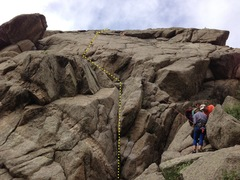 Rock Climbing Photo: View up East Slab.