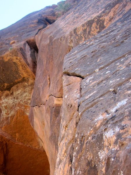 Rock Climbing Photo: Pitch 3 finger crack