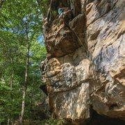 Rock Climbing Photo: Matt on the Warm-up