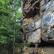 Rock Climbing Photo: Aaron on the Warm-up