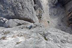Rock Climbing Photo: Following pitch 2.