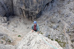 Rock Climbing Photo: Out to the final arête...