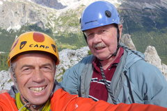 Rock Climbing Photo: Our summit selfie; Enrico Maioni and Rodger Raubac...