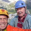 Our summit selfie; Enrico Maioni and Rodger Raubach.