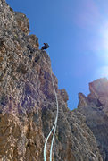 Rock Climbing Photo: Abseils from Torre Latina are steep and spectacula...