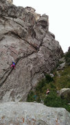 Rock Climbing Photo: Poking holes is on the left and Scorpio Rising on ...