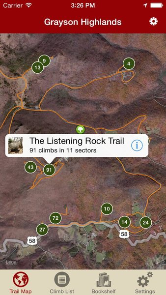 Rock Climbing Photo: Rakkup's GHSP Bouldering Guidebook App