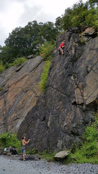 Rock Climbing Photo: Brandon Adam making the last move before the chain...