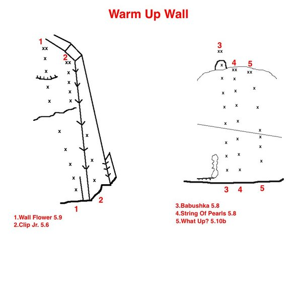Topo to Warm Up Wall
