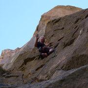 Rock Climbing Photo: Mike Arechiga on, Badassitude. 5.8