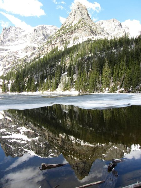 Little Matterhorn reflected in Odessa Lake, RMNP
