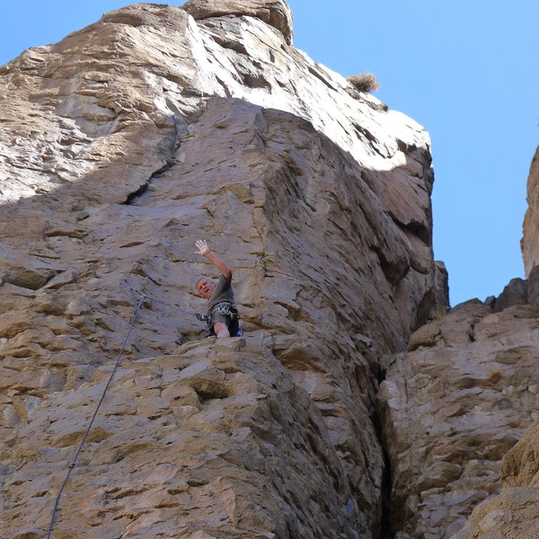 Rock Climbing Photo: Mike Arechiga on, Flex Your Bazooka. 5.9