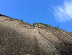 Rock Climbing Photo: Unknown climber starting p2