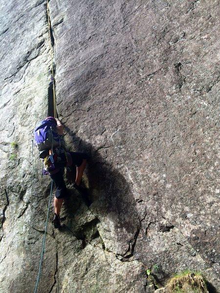 Rock Climbing Photo: Crux start of Gamesmanship