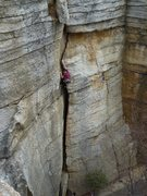 Rock Climbing Photo: The route viewed from the Skink anchor.