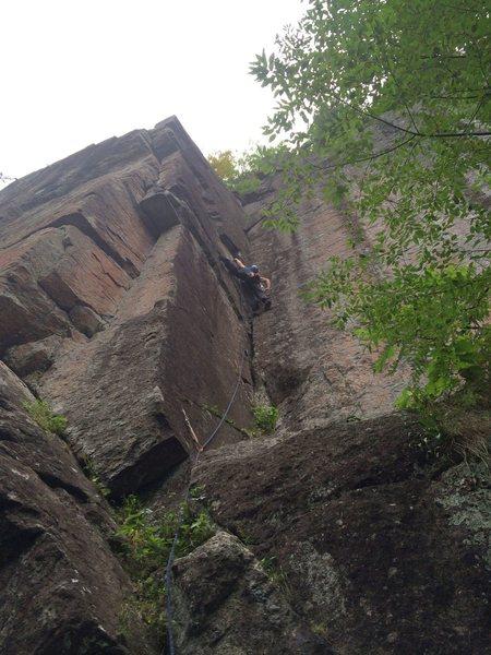 Rock Climbing Photo: Simon on Slim Pickins