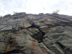 Rock Climbing Photo: Simon starting the crack