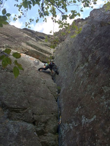 Rock Climbing Photo: Simon on p1