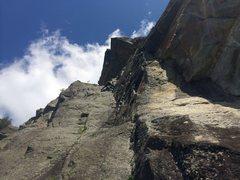 Rock Climbing Photo: Simon on p1 of Prelude