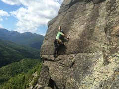 Rock Climbing Photo: Simon at the first bolt on p3