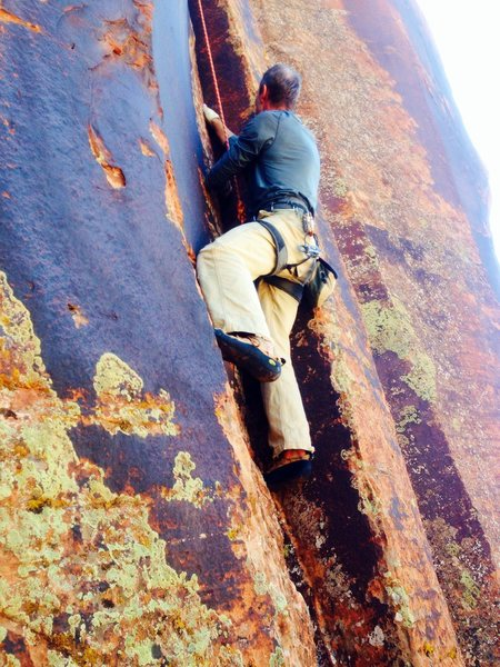 Rock Climbing Photo: Jay loving the finger stacks