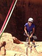Rock Climbing Photo: Summit shot- shows slack line to main wall....scar...