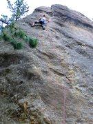 Rock Climbing Photo: Good first lead w/ prosthetic leg...