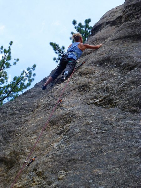 """Rock Climbing Photo: For the commenter """"maybe a good first lead fo..."""