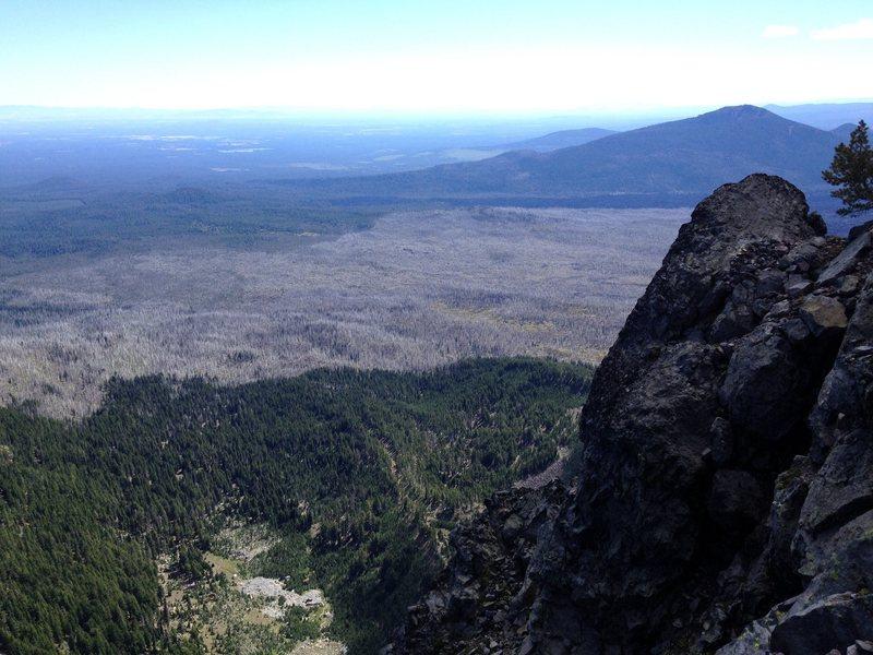 Rock Climbing Photo: Part way up P1
