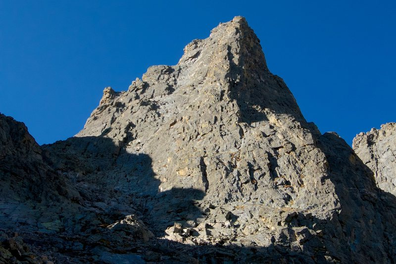Rock Climbing Photo: The Sharkstooth NE Ridge.