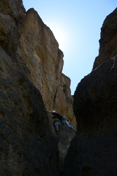 Rock Climbing Photo: Start of the 2nd pitch