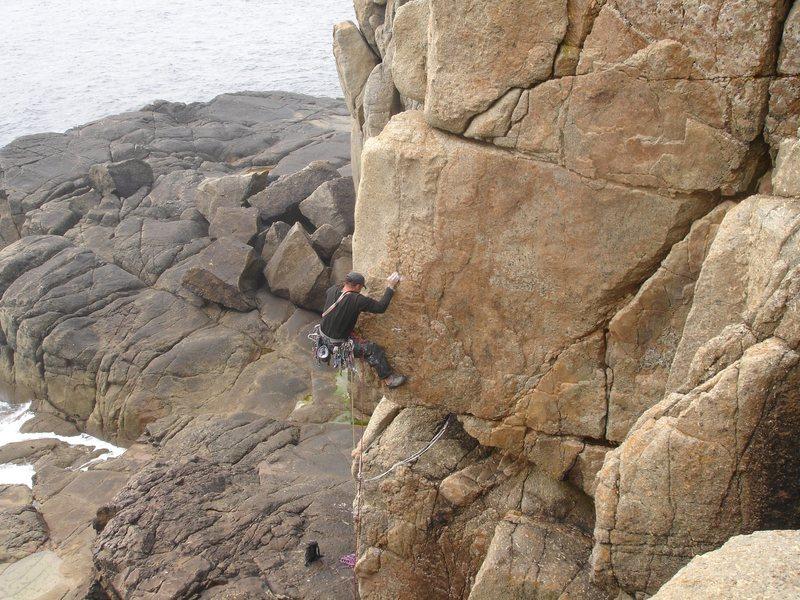 Rock Climbing Photo: Me leading 'Glass Arete' (E3) Cornwall, UK