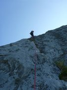 Rock Climbing Photo: Josh Lightman leading the 2nd pitch