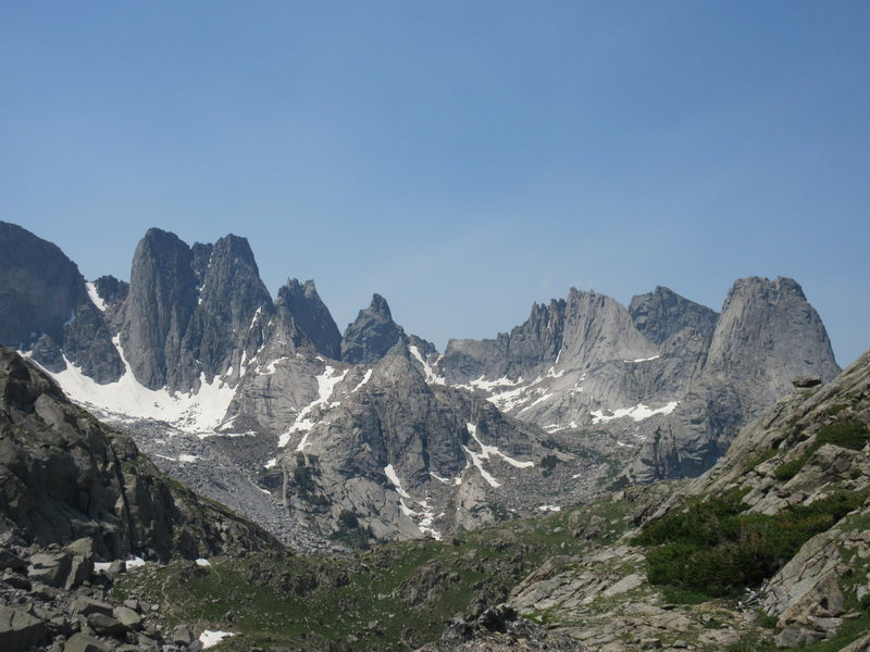 Cirque of the Towers as seen from Jackass Pass