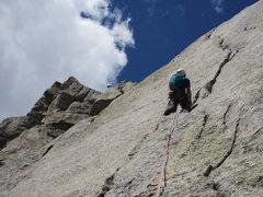 Rock Climbing Photo: Base of the K crack on S buttress of Pingora