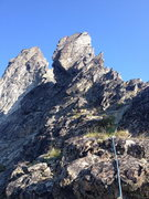 Rock Climbing Photo: The start of the E ridge on Forbidden peak. We end...