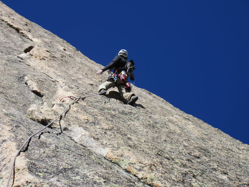 Alexander just before he launched into the crux on The Barb on Spearhead. What a fantastic route!